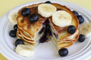 Blueberry-Banana-Protein-Pancake